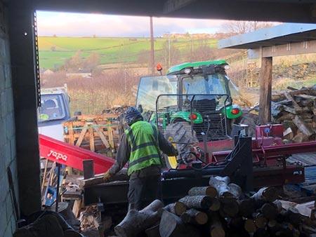 Processing Firewood / Logs in Huddersfield